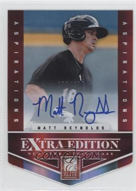 2012 Elite Extra Edition - [Base] - Aspirations Die-Cut Signatures [Autographed] #192 - Matt Reynolds /100