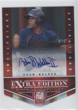 2012 Elite Extra Edition - [Base] - Aspirations Die-Cut Signatures [Autographed] #31 - Adam Walker /100