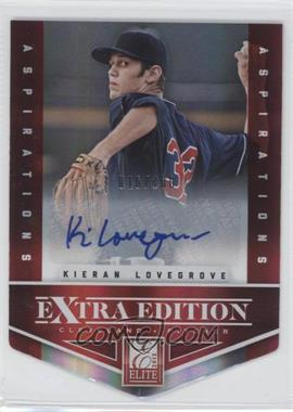 2012 Elite Extra Edition - [Base] - Aspirations Die-Cut Signatures [Autographed] #37 - Kieran Lovegrove /100