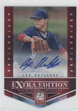 2012 Elite Extra Edition - [Base] - Aspirations Die-Cut Signatures [Autographed] #63 - Lex Rutledge /100