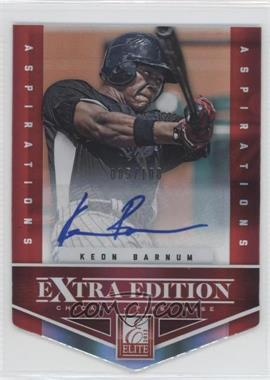 2012 Elite Extra Edition - [Base] - Aspirations Die-Cut Signatures [Autographed] #7 - Keon Barnum /100