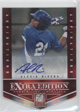 2012 Elite Extra Edition - [Base] - Aspirations Die-Cut Signatures [Autographed] #82 - Alexis Rivera /100