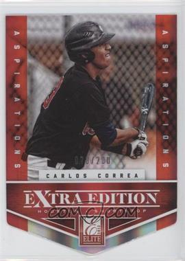 2012 Elite Extra Edition - [Base] - Aspirations Die-Cut #101 - Carlos Correa /200