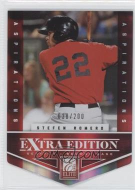 2012 Elite Extra Edition - [Base] - Aspirations Die-Cut #178 - Stefen Romero /200