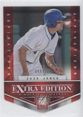 2012 Elite Extra Edition - [Base] - Aspirations Die-Cut #45 - Zack Jones /200