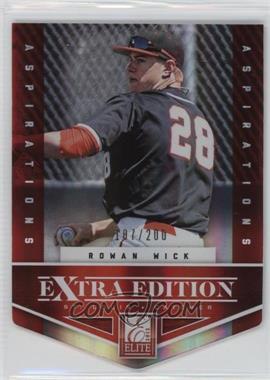 2012 Elite Extra Edition - [Base] - Aspirations Die-Cut #71 - Rowan Wick /200