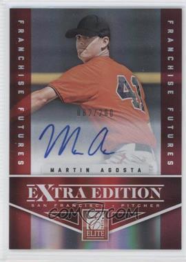2012 Elite Extra Edition - [Base] - Franchise Futures Signatures [Autographed] #29 - Martin Agosta /200