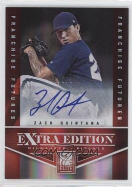 2012 Elite Extra Edition - [Base] - Franchise Futures Signatures [Autographed] #41 - Zach Quintana /381