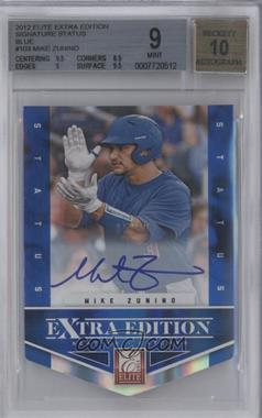 2012 Elite Extra Edition - [Base] - Status Blue Die-Cut Signatures #103 - Mike Zunino /50 [BGS 9]