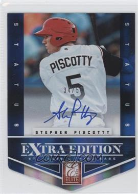 2012 Elite Extra Edition - [Base] - Status Blue Die-Cut Signatures #126 - Stephen Piscotty /50