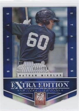 2012 Elite Extra Edition - [Base] - Status Blue Die-Cut #42 - Nathan Mikolas /100