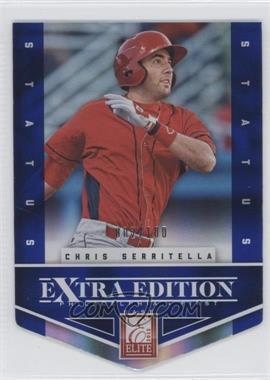 2012 Elite Extra Edition - [Base] - Status Blue Die-Cut #53 - Chris Serritella /100