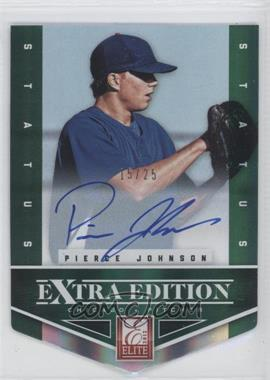 2012 Elite Extra Edition - [Base] - Status Emerald Die-Cut Signatures [Autographed] #148 - Pierce Johnson /25