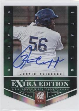 2012 Elite Extra Edition - [Base] - Status Emerald Die-Cut Signatures [Autographed] #168 - Justin Chigbogu /25