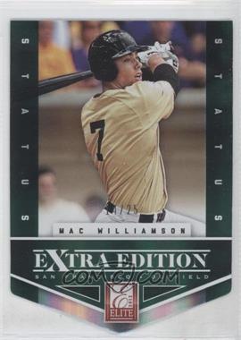 2012 Elite Extra Edition - [Base] - Status Emerald Die-Cut #179 - Mac Williamson /25