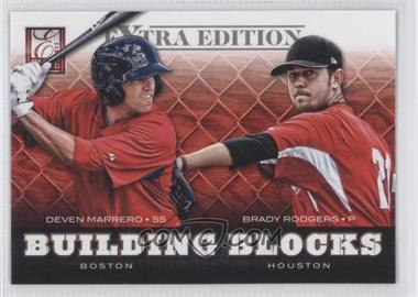 2012 Elite Extra Edition - Building Blocks Dual #12 - Brady Rodgers, Deven Marrero