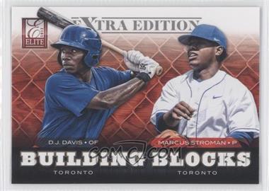 2012 Elite Extra Edition - Building Blocks Dual #5 - D.J. Davis, Marcus Stroman
