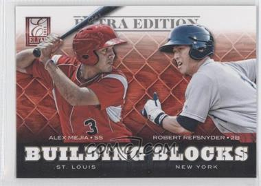 2012 Elite Extra Edition - Building Blocks Dual #6 - Alex Mejia, Robert Refsnyder