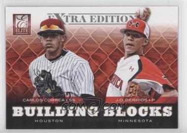 2012 Elite Extra Edition - Building Blocks Dual #7 - J.O. Berrios, Carlos Correa