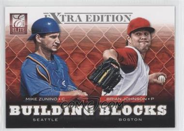 2012 Elite Extra Edition - Building Blocks Dual #8 - Brian Johnson, Mike Zunino