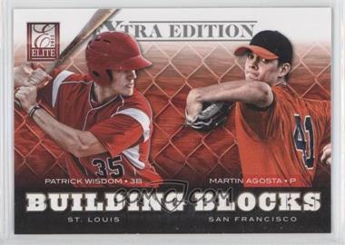 2012 Elite Extra Edition - Building Blocks Dual #9 - Patrick Wisdom, Martin Agosta
