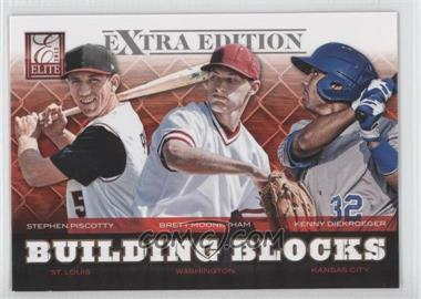2012 Elite Extra Edition - Building Blocks Trio #10 - Brett Mooneyham, Stephen Piscotty