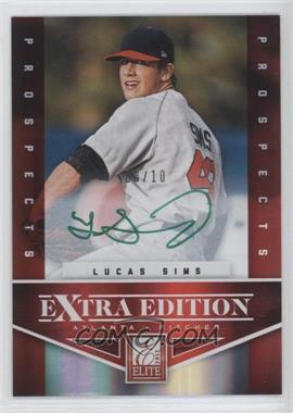 2012 Elite Extra Edition - Prospects Autographs - Green Ink [Autographed] #116 - Lucas Sims /10