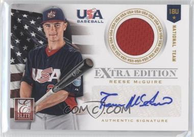2012 Elite Extra Edition - USA Baseball 18U Team Jersey Signatures #12 - Reese McGuire /249
