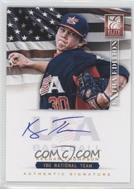 2012 Elite Extra Edition - USA Baseball 18U Team Signatures #KT - Keegan Thompson /299