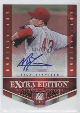 2012 Elite Extra Edition Aspirations Die-Cut Signatures [Autographed] #11 - Nick Travieso /100