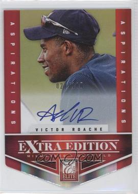 2012 Elite Extra Edition Aspirations Die-Cut Signatures [Autographed] #114 - Victor Roache /100