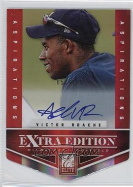 2012 Elite Extra Edition Aspirations Die-Cut Signatures [Autographed] #114 - Victor Roache /100
