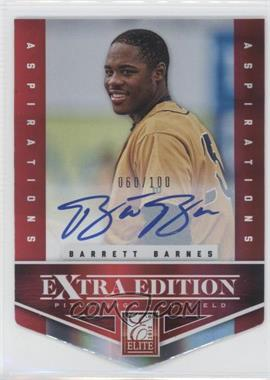 2012 Elite Extra Edition Aspirations Die-Cut Signatures [Autographed] #121 - Barrett Barnes /100