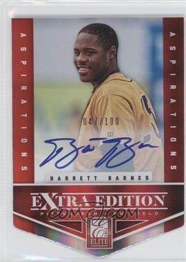 2012 Elite Extra Edition Aspirations Die-Cut Signatures [Autographed] #121 - Barrett Barnes /100