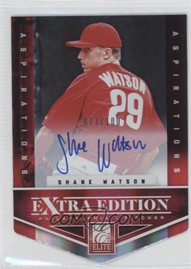 2012 Elite Extra Edition Aspirations Die-Cut Signatures [Autographed] #122 - Shane Watson /100