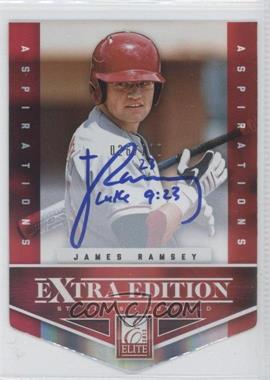 2012 Elite Extra Edition Aspirations Die-Cut Signatures [Autographed] #130 - James Ramsey /100