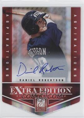 2012 Elite Extra Edition Aspirations Die-Cut Signatures [Autographed] #136 - Daniel Robertson /100
