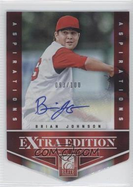 2012 Elite Extra Edition Aspirations Die-Cut Signatures [Autographed] #14 - Brian Johnson /100