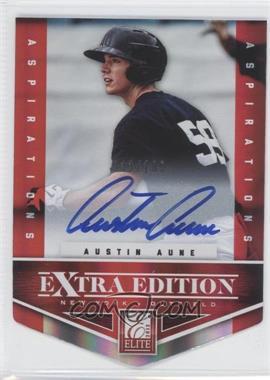 2012 Elite Extra Edition Aspirations Die-Cut Signatures [Autographed] #140 - Austin Aune /100