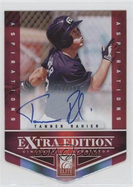 2012 Elite Extra Edition Aspirations Die-Cut Signatures [Autographed] #141 - Tanner Rahier /100