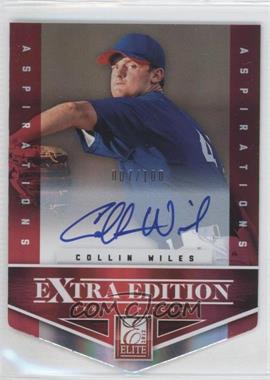 2012 Elite Extra Edition Aspirations Die-Cut Signatures [Autographed] #147 - Collin Wiles /100