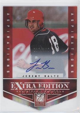 2012 Elite Extra Edition Aspirations Die-Cut Signatures [Autographed] #156 - Jeremy Baltz /100