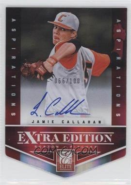2012 Elite Extra Edition Aspirations Die-Cut Signatures [Autographed] #161 - Jamie Callahan /100
