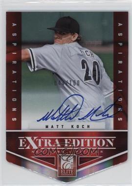 2012 Elite Extra Edition Aspirations Die-Cut Signatures [Autographed] #164 - Matt Koch /100