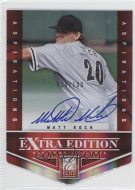 2012 Elite Extra Edition Aspirations Die-Cut Signatures [Autographed] #164 - Matt Koch /100