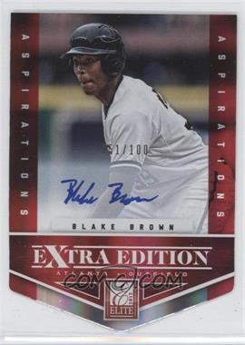 2012 Elite Extra Edition Aspirations Die-Cut Signatures [Autographed] #166 - Blake Brown /100