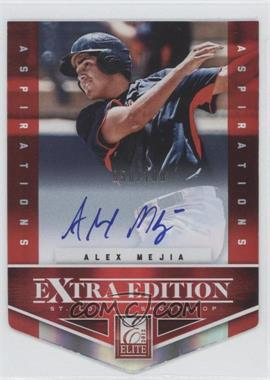 2012 Elite Extra Edition Aspirations Die-Cut Signatures [Autographed] #169 - Alex Mejia /100