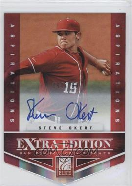 2012 Elite Extra Edition Aspirations Die-Cut Signatures [Autographed] #172 - Steve Okert /100