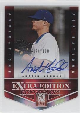 2012 Elite Extra Edition Aspirations Die-Cut Signatures [Autographed] #174 - Austin Maddox /100