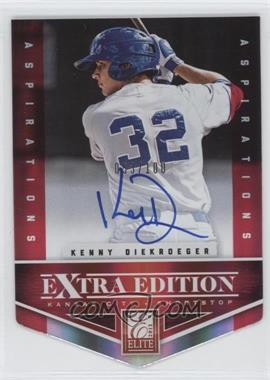 2012 Elite Extra Edition Aspirations Die-Cut Signatures [Autographed] #175 - Kenny Diekroeger /100